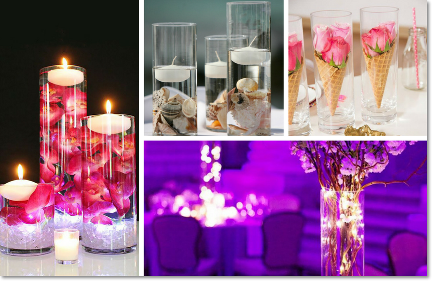 Wholesale Bulk Cylinder Vases For Weddings